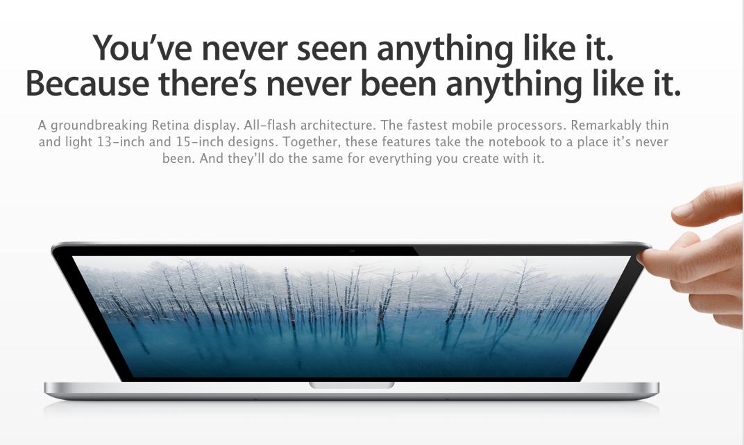 Apple unveils 13-inch MacBook Pro with Retina display