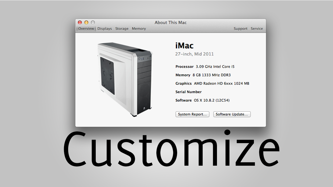 Customize the About This Mac Screen