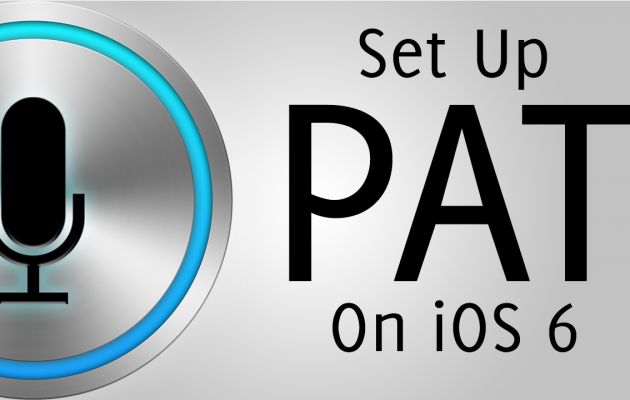 How To Setup PAT on iOS 6.x (TekWik Siri Server)